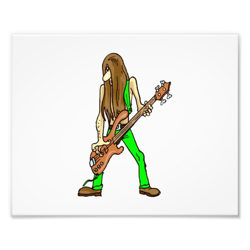 músico largo green.png del hombre de la guitarra d arte fotográfico
