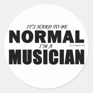 Músico normal etiquetas
