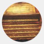 Músico - organista - el órgano pegatinas
