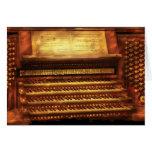 Músico - organista - el órgano tarjeta