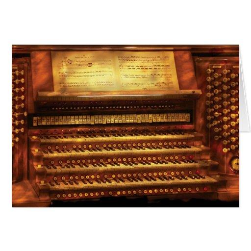 Músico - organista - el órgano tarjeta de felicitación
