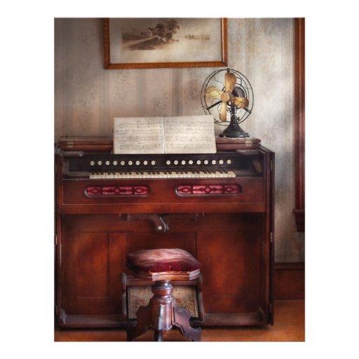 """Músico - organista - mi órgano de las abuelas folleto 8.5"""" x 11"""""""