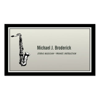Músico profesional del saxofón tarjetas de visita