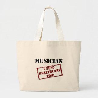 Músico sin seguro bolsa tela grande