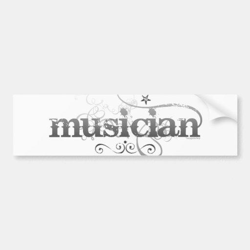 Músico urbano etiqueta de parachoque