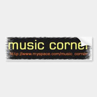 musicornercool car bumper sticker