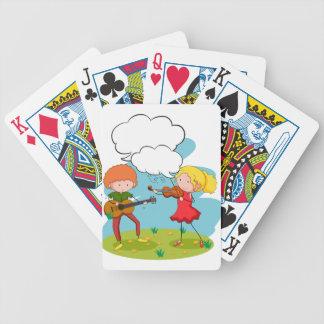 Músicos Baraja Cartas De Poker