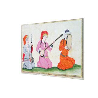 Músicos 'Costumes de la Cour y la del de Lienzo Envuelto Para Galerías