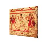 Músicos de Etruscan Lienzo Envuelto Para Galerías