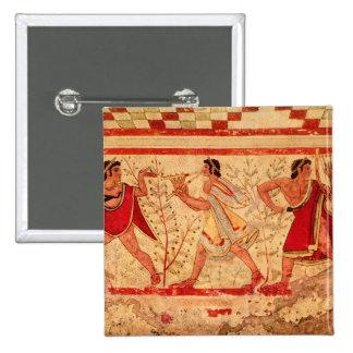 Músicos de Etruscan Pin Cuadrado