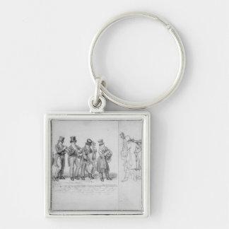 Músicos de la calle de Londres, c.1820-30 Llaveros