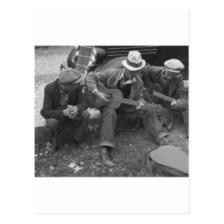 Músicos de la calle de Tennessee, los años 30 Postal