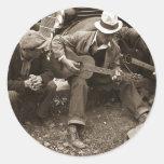 Músicos de la calle, Maynardville, Tennessee, 1935 Pegatina