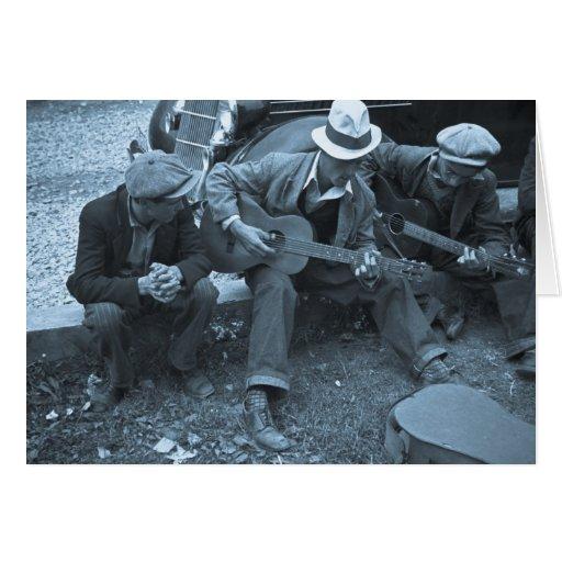 Músicos de la calle, Maynardville, Tennessee, 1935 Felicitacion