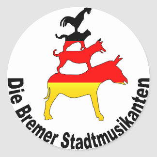 Músicos de la ciudad de Bremen Etiquetas Redondas