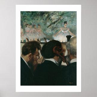 Músicos de la orquesta de Edgar Degas el | Póster