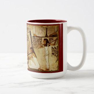Músicos de la taza egipcia de la historia de Akhna