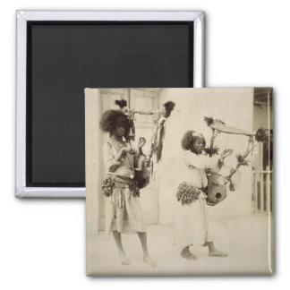 Músicos de Nubian (foto de la sepia) Imán Cuadrado