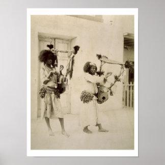 Músicos de Nubian (foto de la sepia) Posters