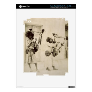 Músicos de Nubian foto de la sepia iPad 3 Pegatinas Skins