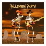Músicos del esqueleto del fiesta de Halloween Anuncios Personalizados