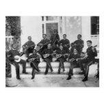 Músicos del instituto de Hampton, 1890s Postal