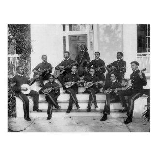 Músicos del instituto de Hampton, 1890s Postales