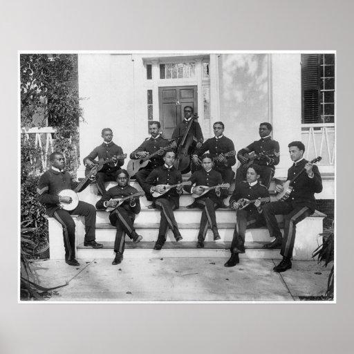 Músicos del instituto de Hampton, 1898 Impresiones