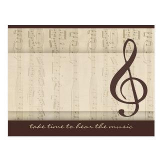 Músicos en amor tarjetas postales