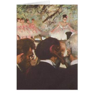 Músicos en la orquesta por la tarjeta de Edgar Deg