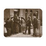 Músicos italianos de la calle, a partir de la 'vid iman