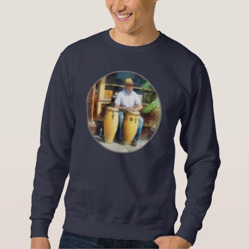 Músicos - jugar los tambores de bongo pulovers sudaderas