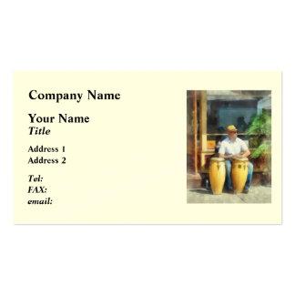 Músicos - jugar los tambores de bongo tarjetas de visita