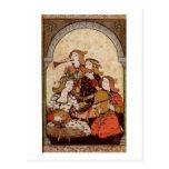 Músicos, música medieval tarjetas postales