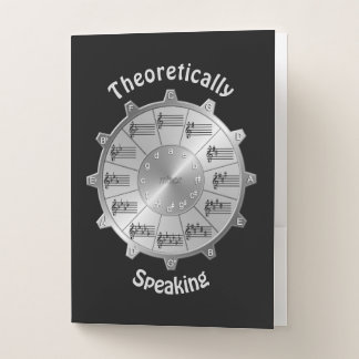 Music's Circle of Fifths for Theoretical Speech Pocket Folder