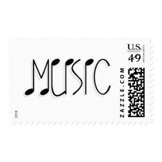 MUSICTITLE01 MUSIC NOTES TEXT GRAPHICS POSTAGE