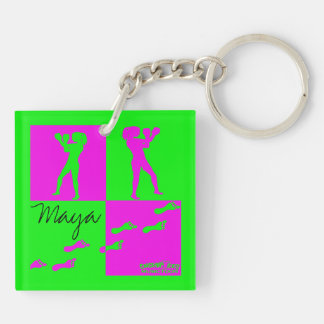 "MusicToon : ""Stronger"" Key Chain Square Acrylic Keychain"
