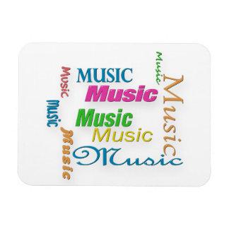 MusicWord Cloud 3 Rectangular Photo Magnet