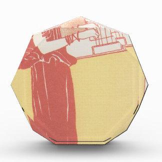 Musik (lithograph) by Gustav Klimt Acrylic Award