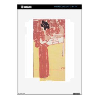 Musik (lithograph) by Gustav Klimt iPad 3 Decal