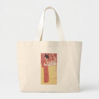 Musik (lithograph) by Gustav Klimt Large Tote Bag