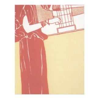 Musik (litografía) por Gustavo Klimt Membrete Personalizado
