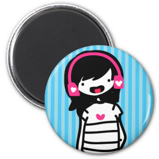 Musik Lova 2 Inch Round Magnet