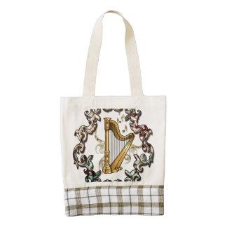 Musik, mit de la arpa dekorativen elementos bolsa tote zazzle HEART