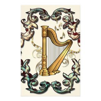 Musik, mit de la arpa dekorativen elementos  papeleria