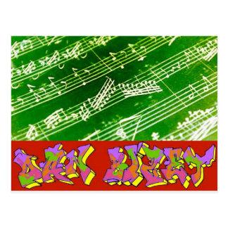 Musika Dan Bizet Green Postcard