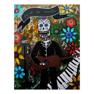 MUSIKERO DAY OF THE DEAD print