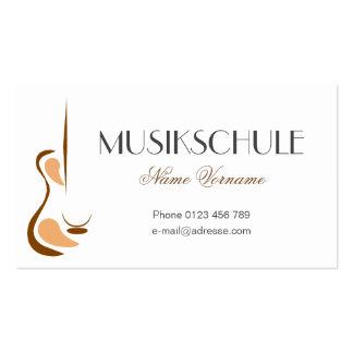 musikschule tarjetas de visita