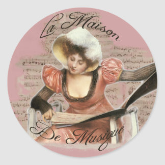 Musique Classic Round Sticker