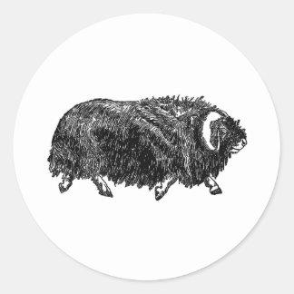 Musk Ox (illustration) Classic Round Sticker